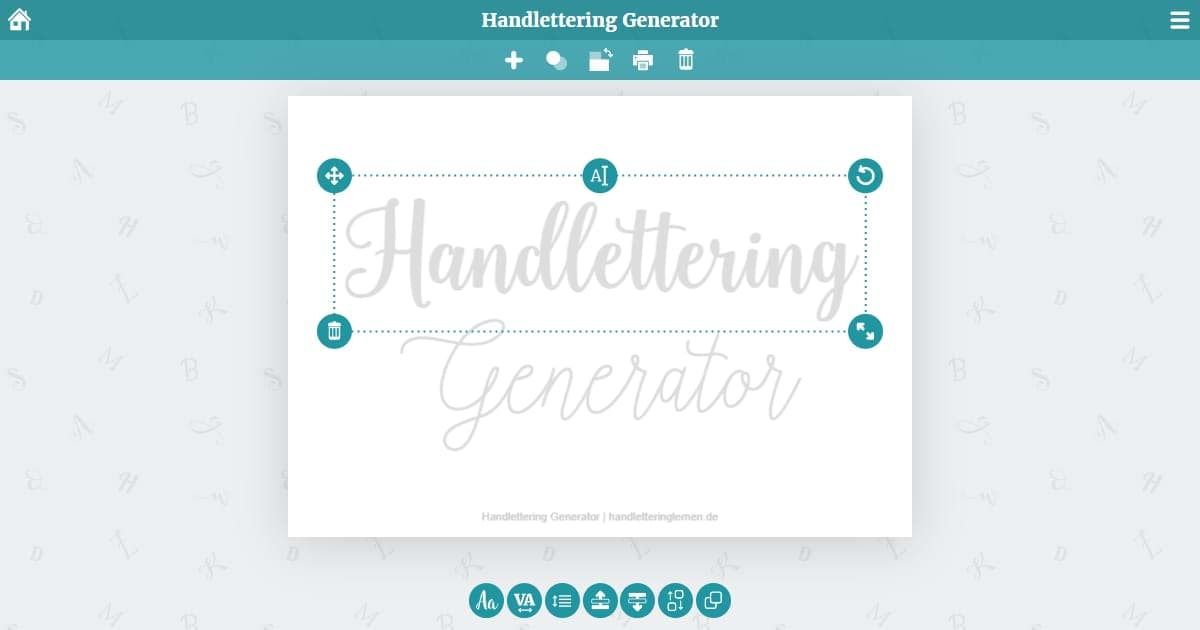 The Hand Lettering Generator Create Print Templates