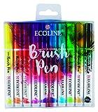Talens Ecoline 10 brush pens.