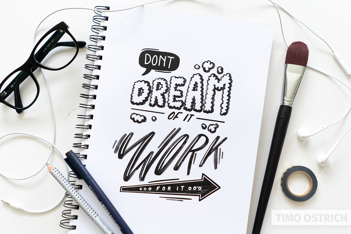 Handlettering dont dream of it