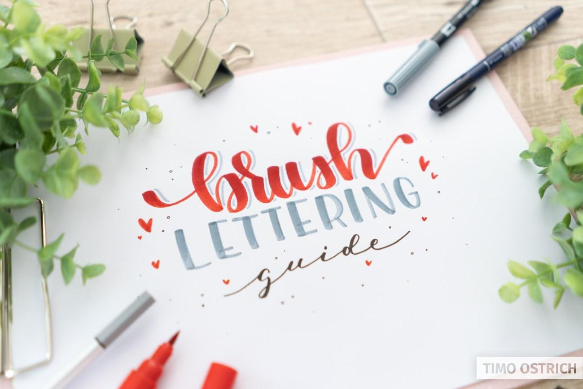 Brush Lettering Guide