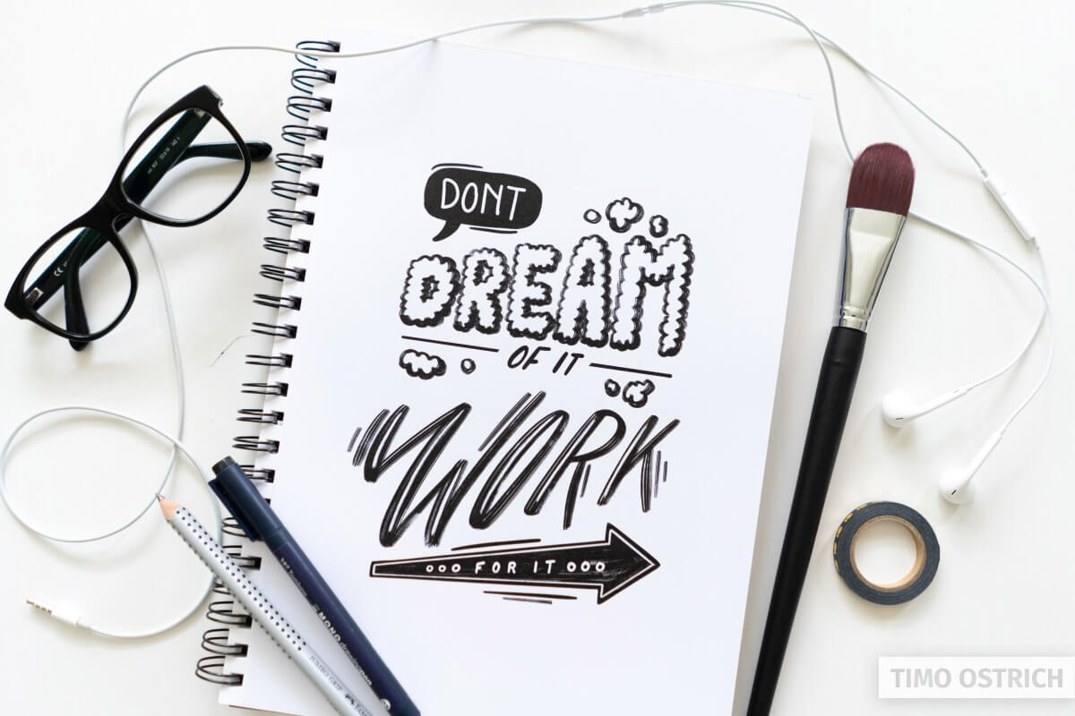 Work on your lettering goals