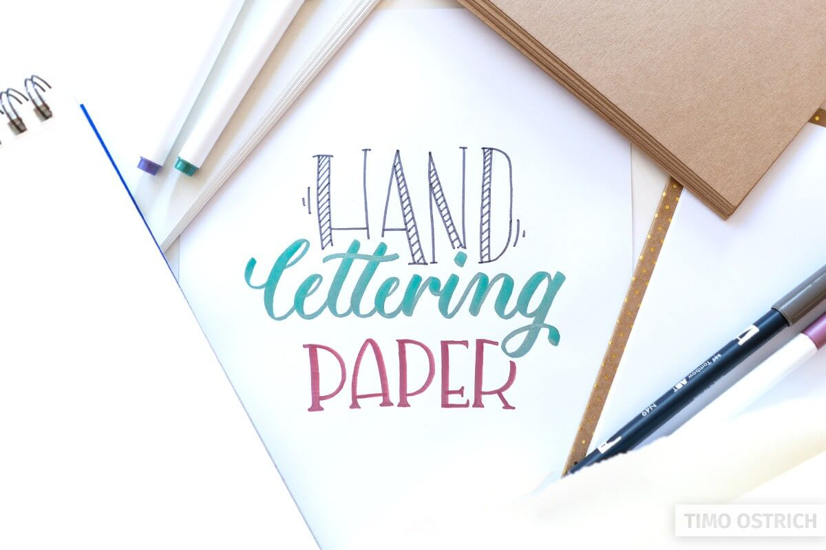 Lettering paper
