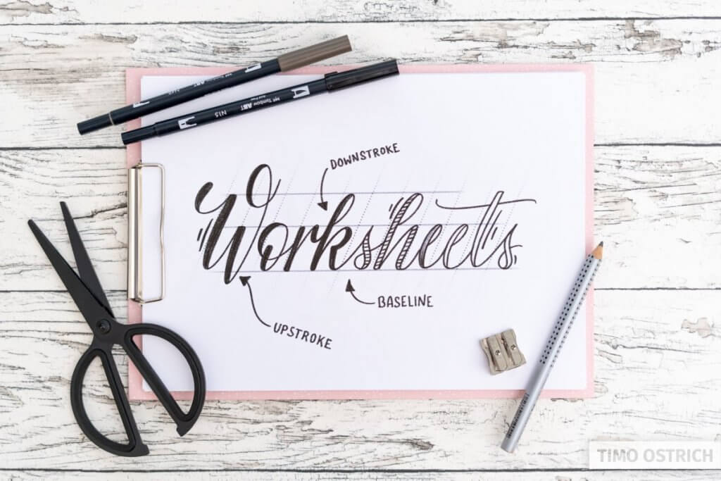 Using worksheets to learn lettering fast