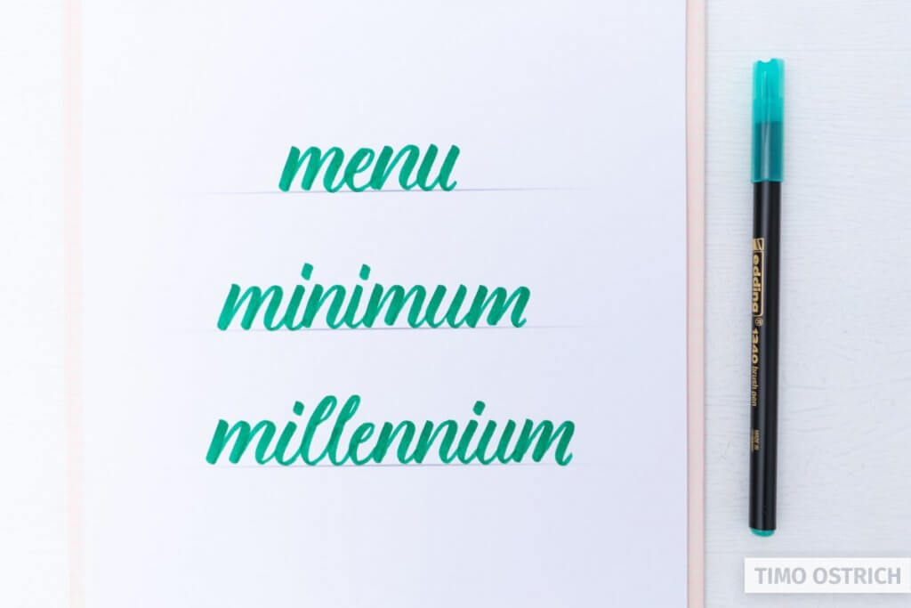 Easy words to practice brush lettering