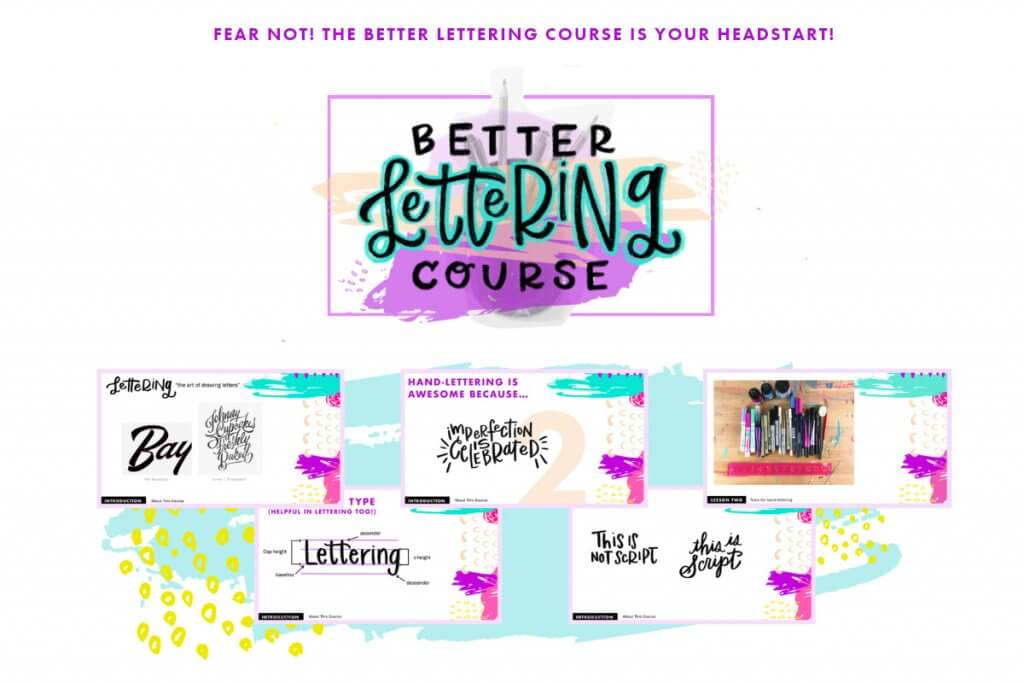 Better lettering course by Caroline Zook