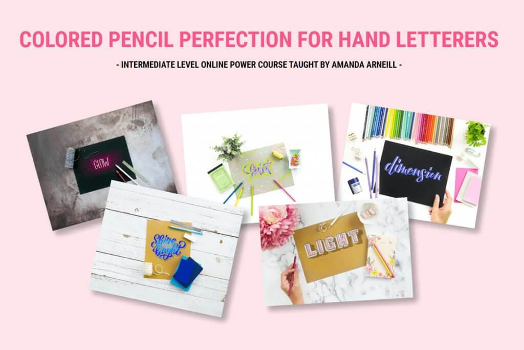 Colored pencil perfection for hand letterers by Amanda Arneill