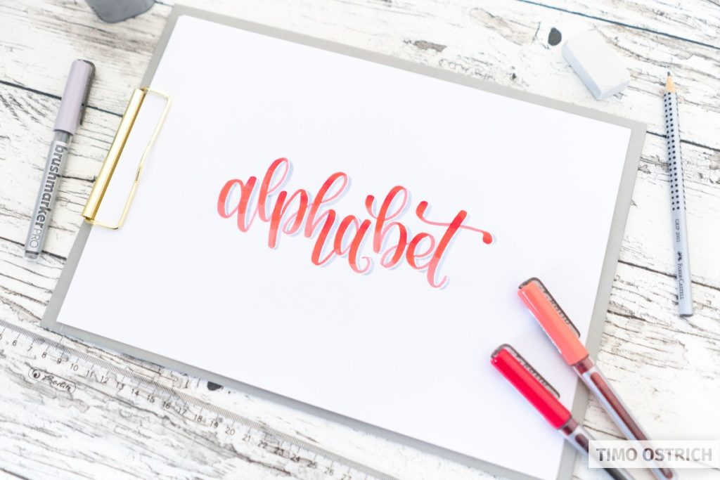 Bounce lettering and additional techniques