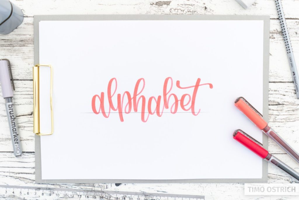 Final bounce for the word alphabet