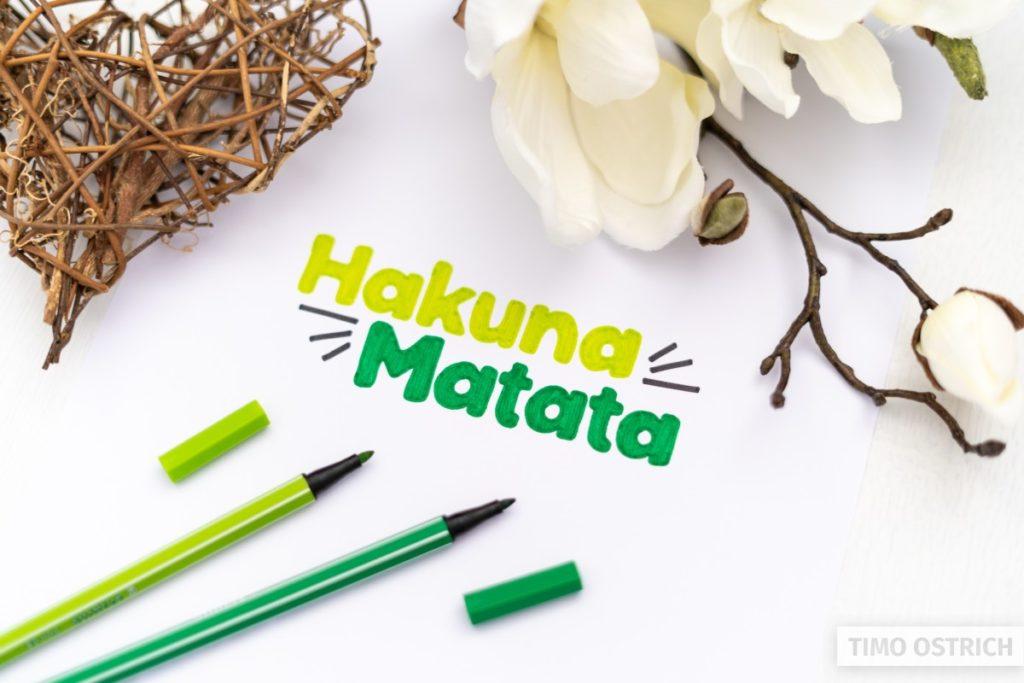 Hakuna Matata lettering