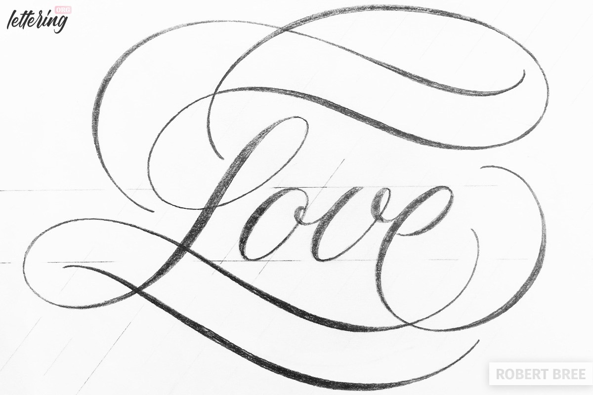 Clean lettering with flourishes