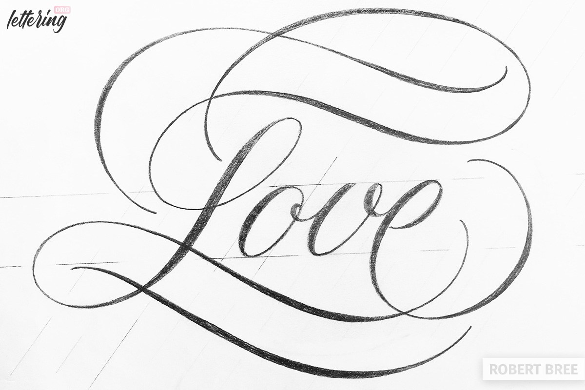Lettering flourishes