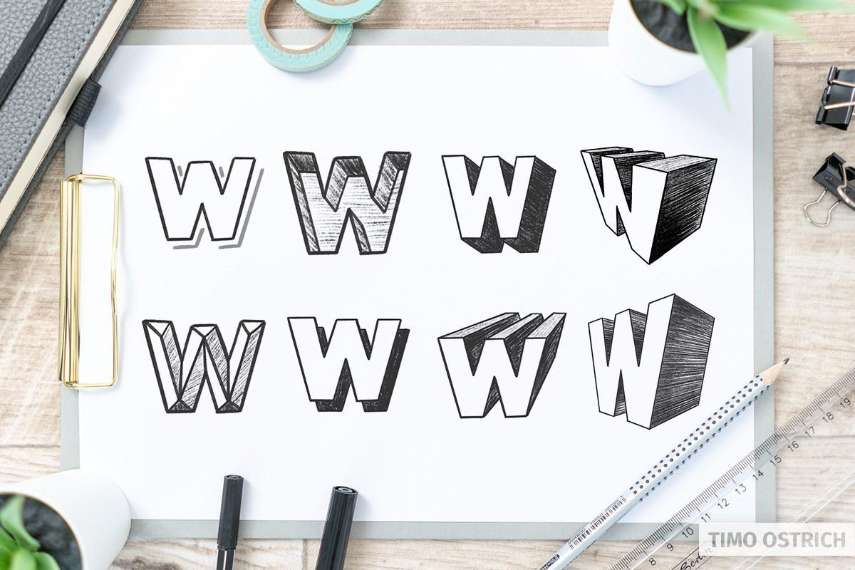 3D Lettering techniques