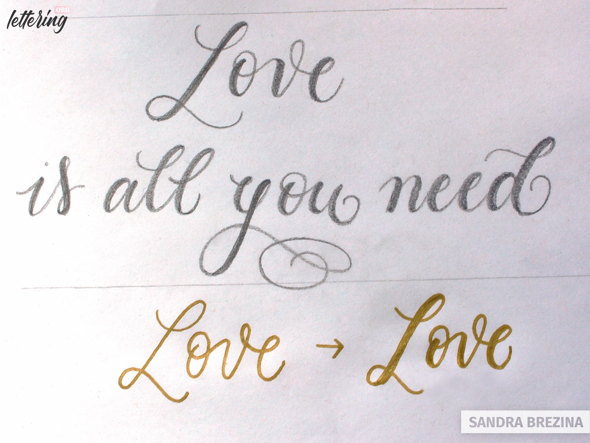 Write faux calligraphy