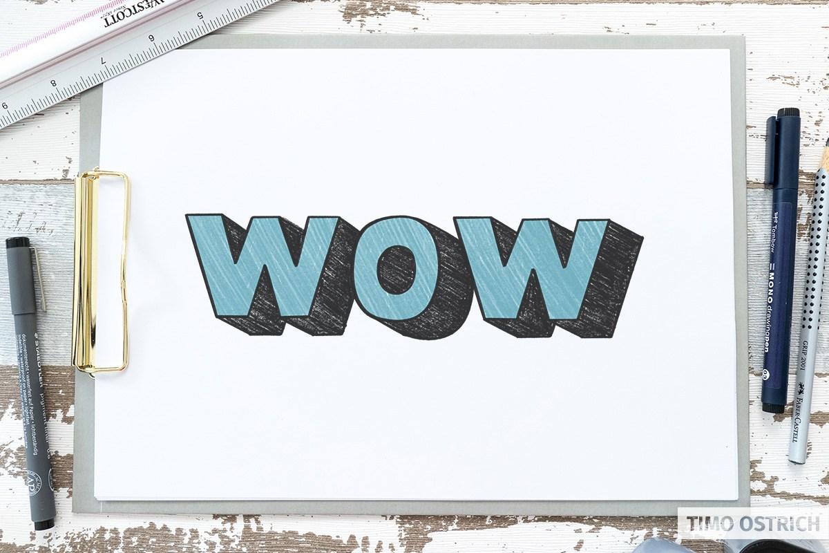 Isometric 3D lettering