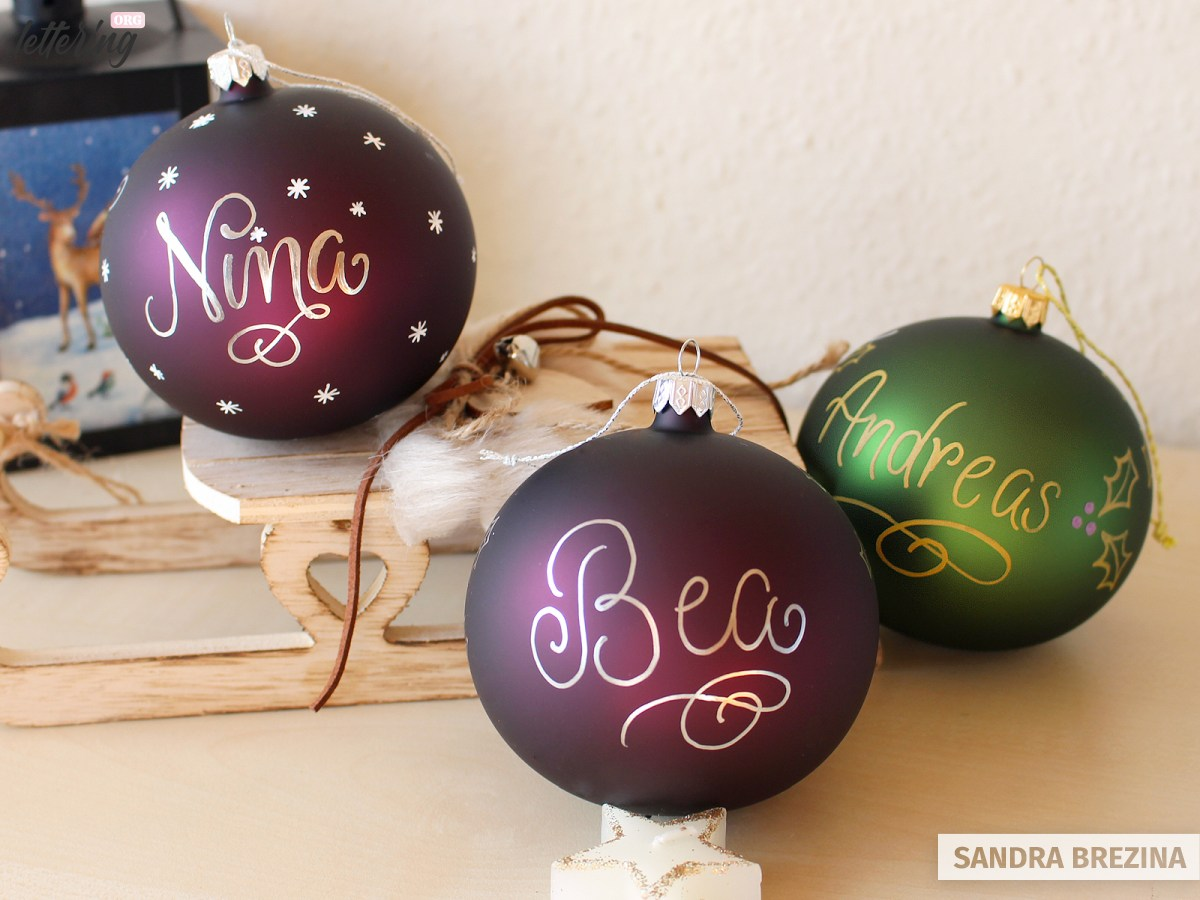 Personalize your ornaments
