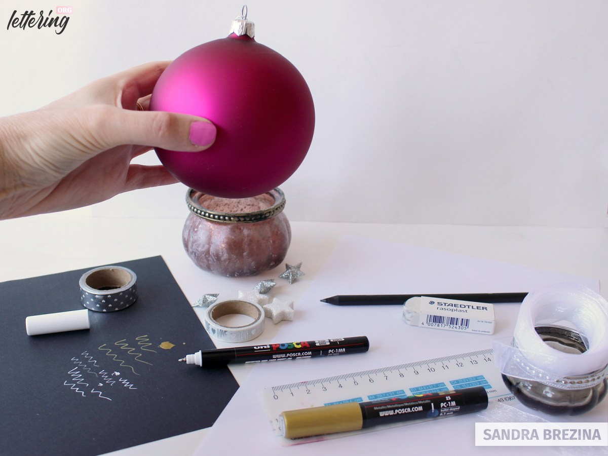 Your first project with large Christmas ornaments