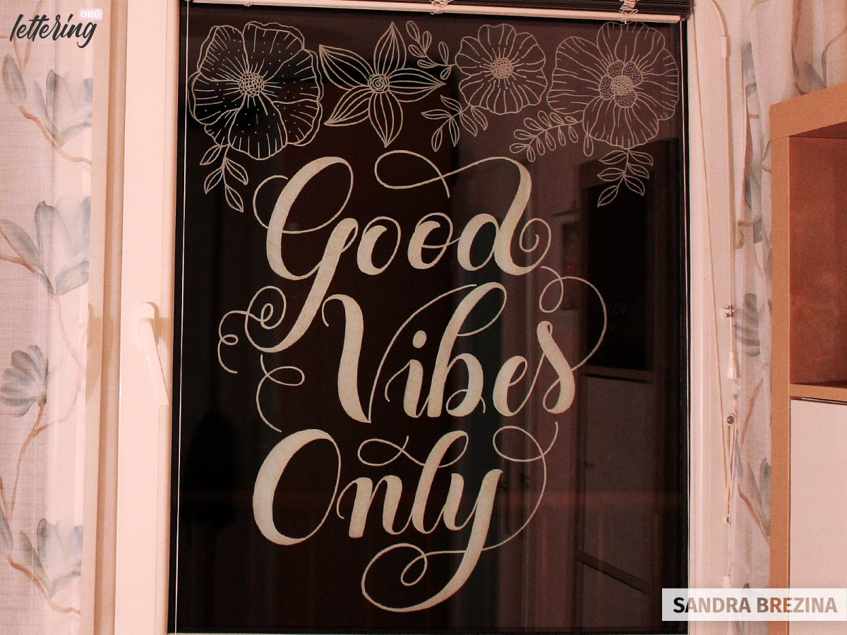 Gorgeous window lettering