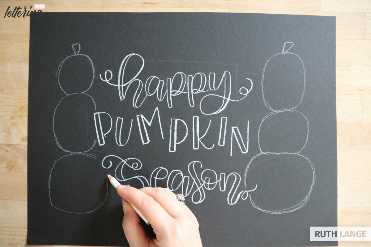Outline the pumpkins
