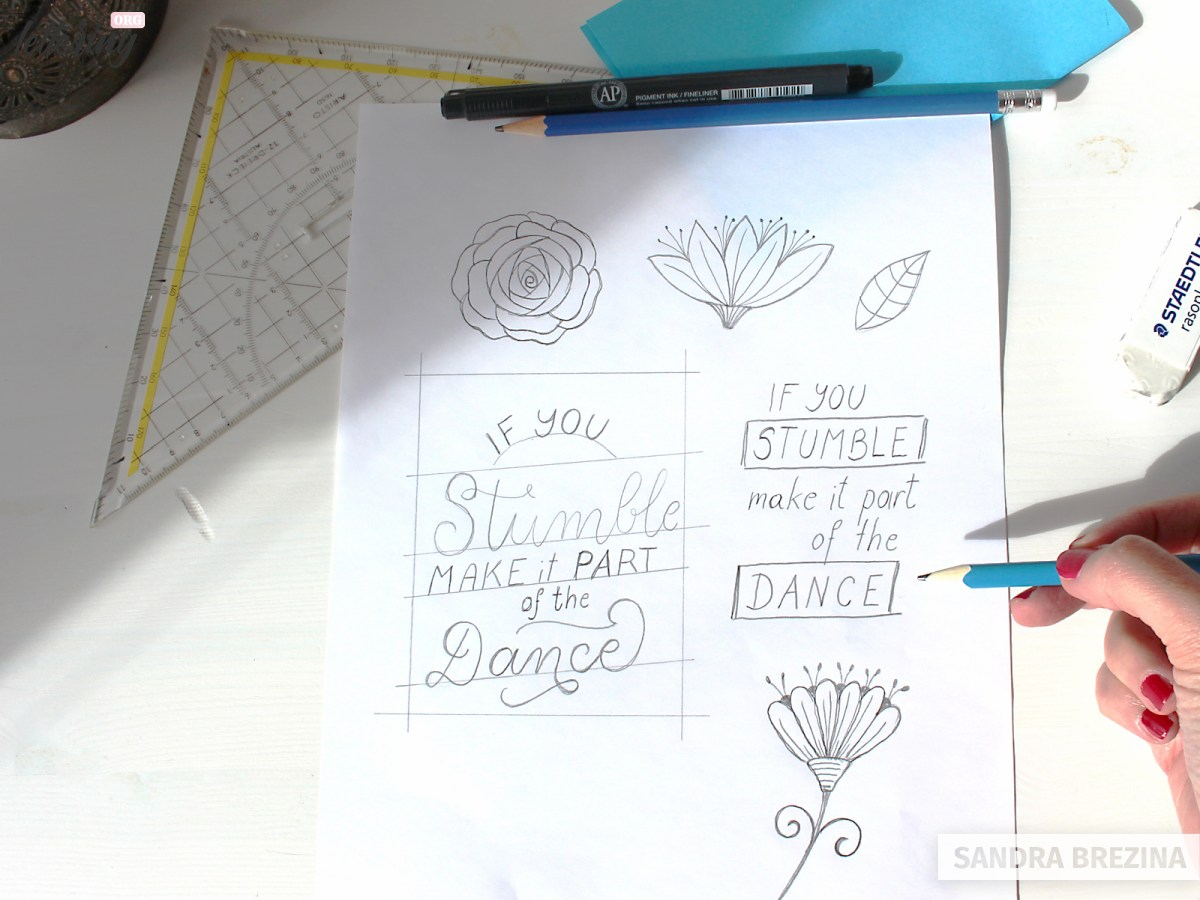 Fill in your favourite lettering composition with your words
