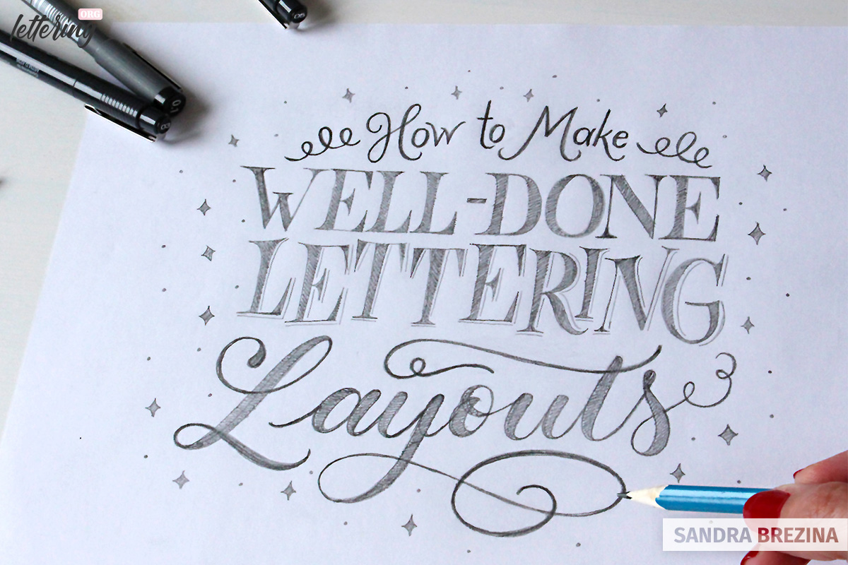 Lettering compositions