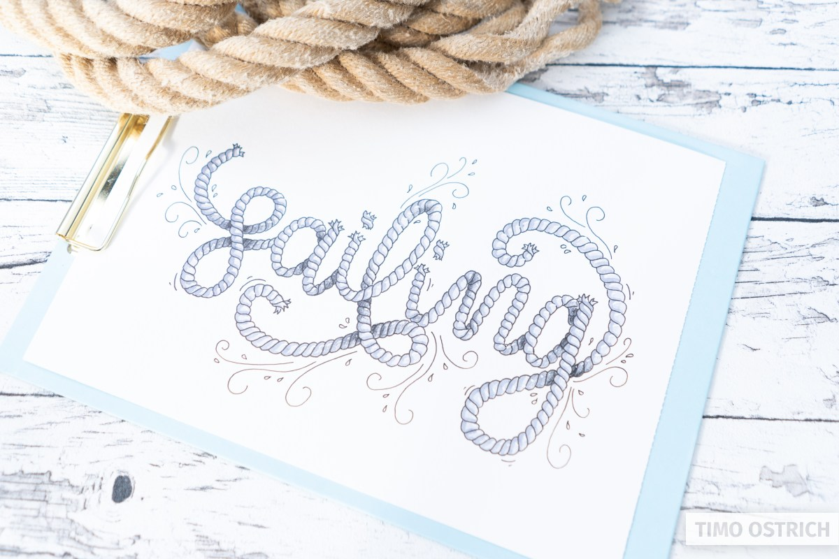 A more detailed rope lettering