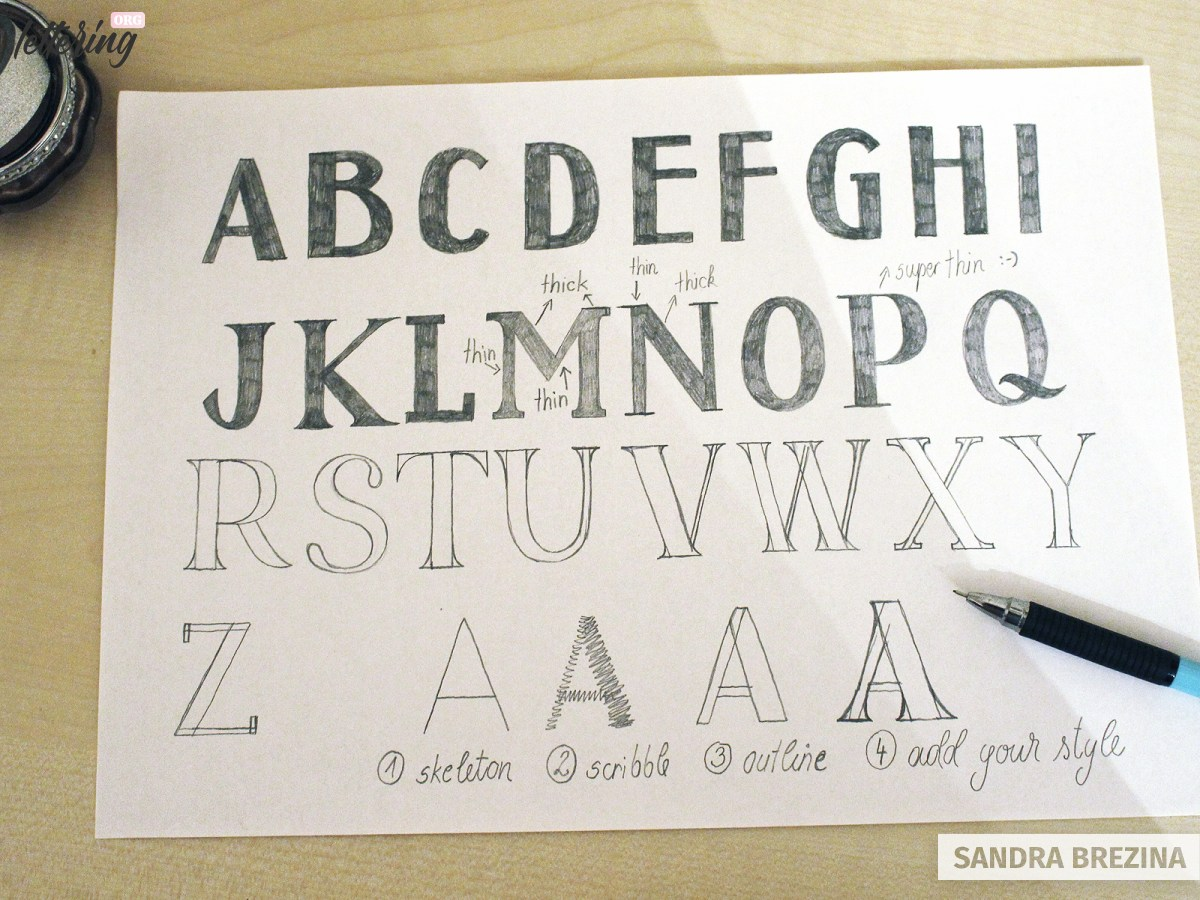 Create a variety of gorgeous block letters