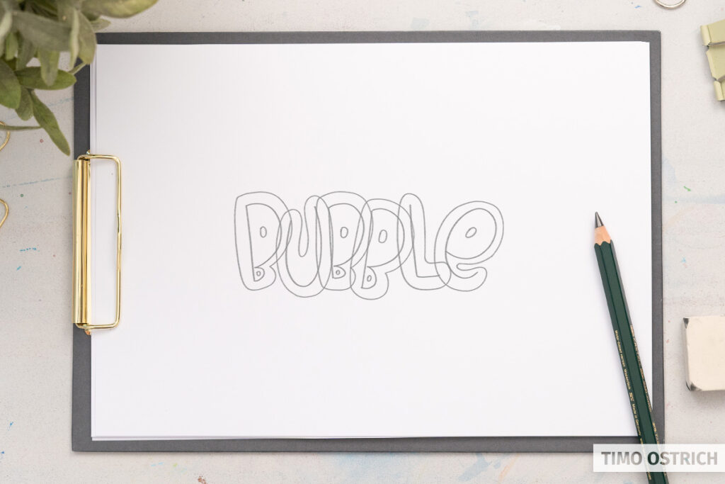 Drawing the bubble shapes