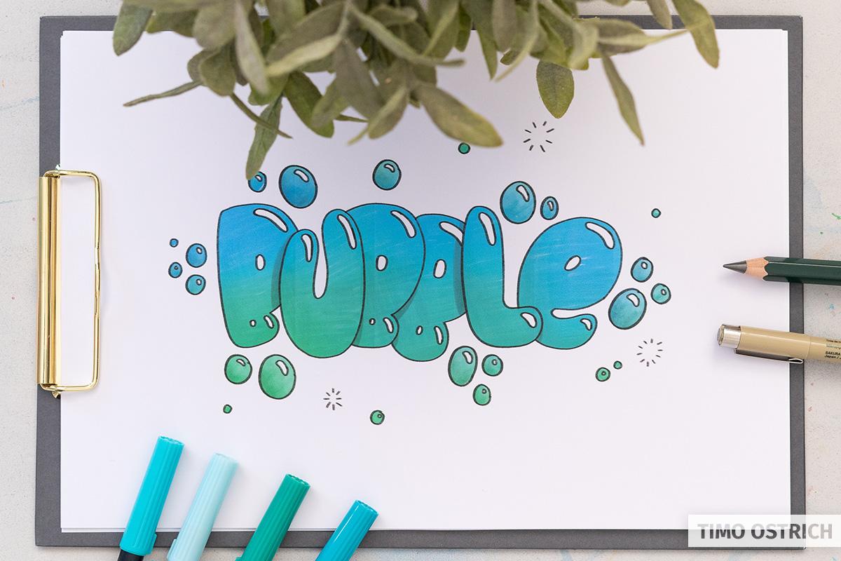 Bubble lettering tutorial